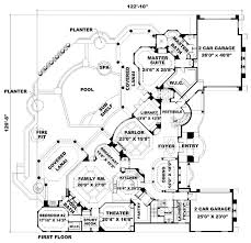 mediterranean home plans and spanish house floor plans at Floor Plans Hillside Home order this house plan click on picture for complete info hillside homes floor plans