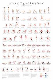 Ashtanga Poses Chart Ashtanga Yoga Primary Series Poster Ashtanga Yoga Primary