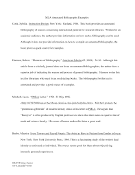 MLA  th Annotated Bibliography Example