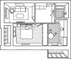 Bedroom:Master Bedroom With Bathroom Blueprints Addition Blueprint Maker  8x12bedroom Free Hand Drawn Vector 86