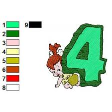 Flintstones Embroidery Designs Alphabets 4 With The Flintstones Embroidery Design