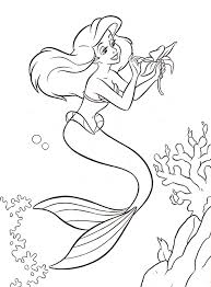 Small Picture New Disney Ariel Coloring Pages 27 With Additional Picture