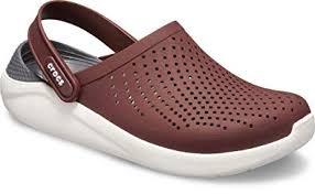 Crocs Unisexs Burgundy White Clogs 10 Uk M11 204592 616