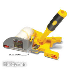 Best DIY painting tools~A small brush on the tool cuts a clean paint line.