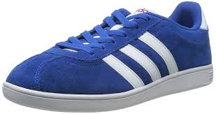 adidas trainers. adidas new mens/gents blue/white suede vlneo court trainers - blue/wht/power red uk sizes 6-11.5: amazon.co.uk: shoes \u0026 bags