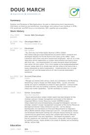 Web Developer Resume Simple Senior Web Developer Resume Samples VisualCV Resume Samples Database