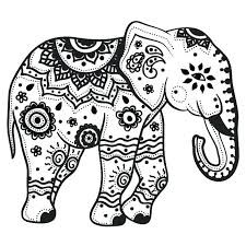 Elephant Coloring Pages Adults