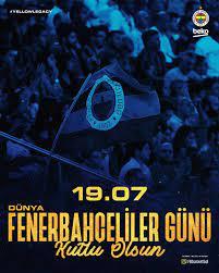 """Neslin on Twitter: """"19.07 Dünya Fenerbahçeliler Günümüz kutlu olsun.💛💙 # DünyaFenerbahçelilerGünü https://t.co/tXJ02d49Yo"""" / Twitter"""