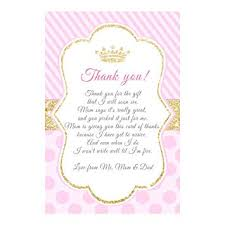 Baby Card Notes Amazon Com 30 Thank You Cards Notes Pink Gold Princess Baby