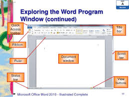 Ms Word Powerpoint Word 2010 Unit A Ppt