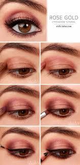 rose gold eyeshadow gorgeous easy eye makeup tutorials for brown eyes eye