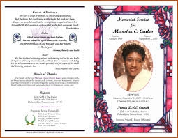 sample of obituary funeral program examples sop example