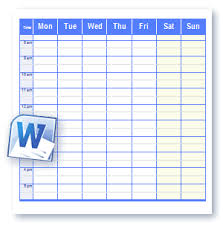 Weekly Planner Template Word Printable Schedule Templates In Word And Open Office Format