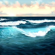 how to paint water ocean and waves photo tutorial by melody nieves