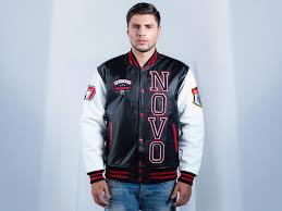 genuine custom leather letterman jacket mens