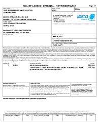 sample bol luxury bill of lading template excel bol sample physic minimalistics