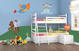 Adesivi murali bambini decorazioni camerette kit cavalieri e