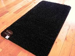 black bathroom rugs runner