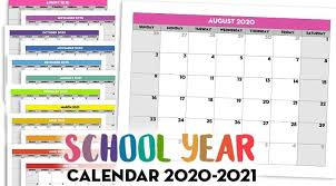 Download printable template for january 2021 calendar printable. Free Printable 2020 2021 Monthly School Calendar Template Lovely Planner