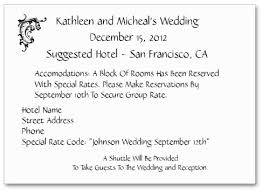 how to word hotel accommodations for wedding invitations wording to use when giving out room block information to out of town