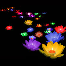 floating candles for pool wedding. 10pcs floating lotus light pool pond garden water flower lamp with candle wishing birthday wedding decoration-in holiday lighting from lights candles for l