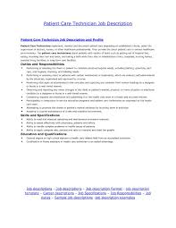 Patient Care Tech Resume Amazing Patient Care Technician Resume With Tech Nurse Examples 5