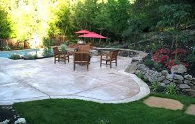 Backyard Concrete Landscaping Ideas Rust Smooth Con Patios Custom