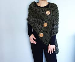 Knit Poncho Pattern Gorgeous Ravelry 48 Button Loose Knit Poncho Pattern By Camelia Mit
