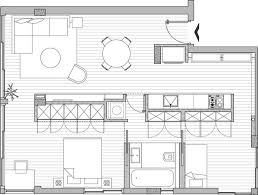 Modern Style Small Two Bedroom Apartment Floor Plans Source Modern Apartment Floor Plans