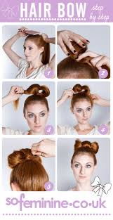 How Todo Hair Style how to do a hair bow step by step 1 brush hair into a ponytail 1297 by wearticles.com