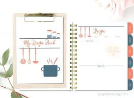 recipe organizer binder recipe book