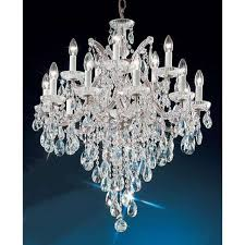 classic lighting maria theresa crystal traditional chandelier chrome 8126chc