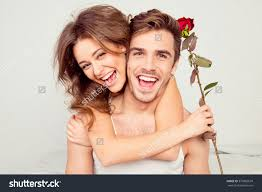 Fun Bedroom For Couples Cheerful Young Couple Love Embracing Bedroom Stock Photo 370965674