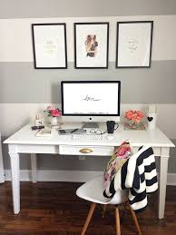 home office simple neat. Big White And Grey Stripes For A Home Office, So Cute. The Perfect Accent Wall! Great Office Inspiration! Simple Neat D