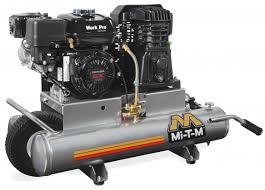 air compressors mi t m industrial air compressors 8 gallon single stage gasoline am1 ph65 08wp