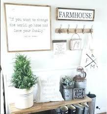 farmhouse wall decor entryway best ideas on in art half for dining room