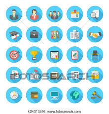 Resume Icons Fascinating Clip Art Of Round Flat Resume Icons K60 Search Clipart