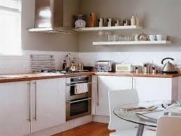 Kitchen Storage Ideas with Wall Shelves and Dining Table