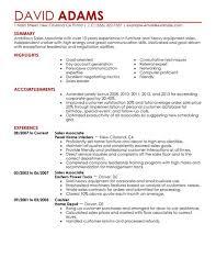 Sample Sales Associate Resume Musiccityspiritsandcocktail Com