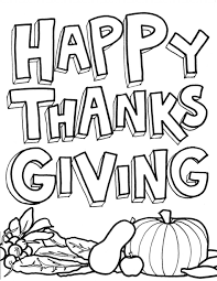 Printable Happy Thanksgiving Coloring Pages Holidays Striking With