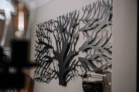 laser cut 3 panel tree wall decor on laser cut wall art metal with tree triptych custom laser cut metal art wall decor