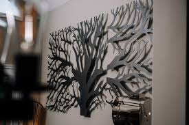 laser cut 3 panel tree wall decor