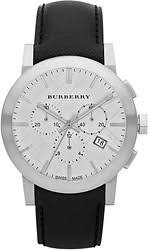 men s burberry watches watchtag com burberry leather chronograph men s watch bu9355
