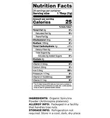Terrasoul Superfoods Organic Spirulina Powder 1 5 Pounds