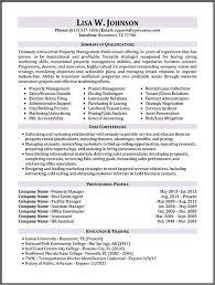 Property Manager Resume Templates Property Management Resume