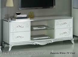 italian white furniture. image is loading thedanielaitalianwhitesilvertvunitmodern italian white furniture
