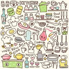 cute cooking wallpaper. Contemporary Cute Cute Doodle Kitchen Stuff And Cooking Wallpaper 0
