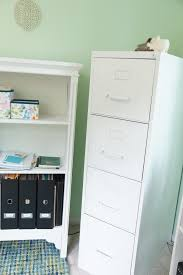 File Cabinet Paint Another Home Office Makeover Green And Blue Heartworkorgcom