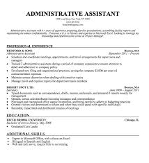 Example Of Resumes For Administrative Assistants Heres How To Create A Standout Administrative Assistant