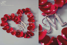 love m rose heart letter petals abstract